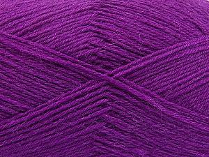 Fiber Content 75% Superwash Wool, 25% Polyamide, Purple, Brand ICE, Yarn Thickness 1 SuperFine  Sock, Fingering, Baby, fnt2-55474