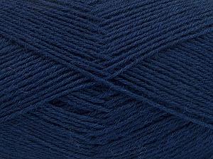 Fiber Content 75% Superwash Wool, 25% Polyamide, Navy, Brand ICE, Yarn Thickness 1 SuperFine  Sock, Fingering, Baby, fnt2-55475