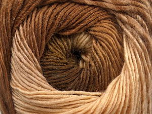 Fiber Content 50% Acrylic, 50% Wool, Brand ICE, Cream, Brown Shades, Yarn Thickness 2 Fine  Sport, Baby, fnt2-55517