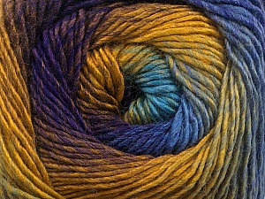 Fiber Content 50% Acrylic, 50% Wool, Turquoise, Purple, Brand ICE, Gold, Blue, Yarn Thickness 2 Fine  Sport, Baby, fnt2-55519