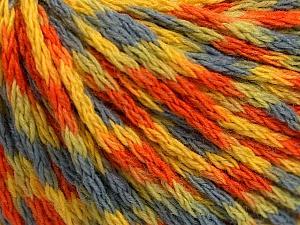 Fiber Content 60% Acrylic, 40% Wool, Yellow, Orange, Light Blue, Brand ICE, Green, Yarn Thickness 3 Light  DK, Light, Worsted, fnt2-55527