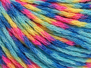 Fiber Content 60% Acrylic, 40% Wool, Yellow, Turquoise, Pink, Brand ICE, Blue, Yarn Thickness 3 Light  DK, Light, Worsted, fnt2-55536
