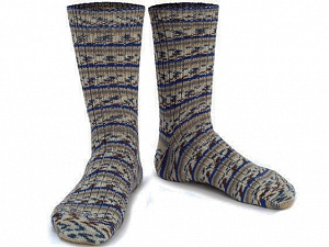 Fiber Content 75% Superwash Wool, 25% Polyamide, Brand ICE, Grey, Cream, Blue, Beige, Yarn Thickness 1 SuperFine  Sock, Fingering, Baby, fnt2-55548