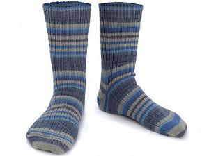 Fiber Content 75% Superwash Wool, 25% Polyamide, Brand ICE, Blue Shades, Beige, Yarn Thickness 1 SuperFine  Sock, Fingering, Baby, fnt2-55551
