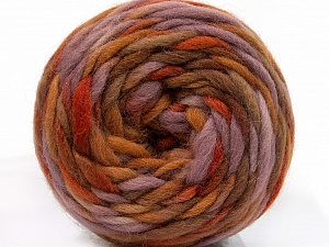 Fiber Content 100% Wool, Lilac, Brand ICE, Brown Shades, Yarn Thickness 6 SuperBulky  Bulky, Roving, fnt2-55553