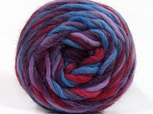 Fiber Content 100% Wool, Purple, Lilac, Brand ICE, Burgundy, Blue, Yarn Thickness 6 SuperBulky  Bulky, Roving, fnt2-55560