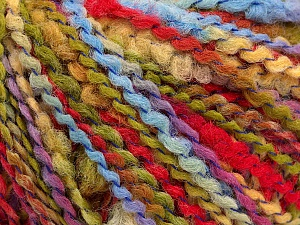 Fiber Content 82% Acrylic, 8% Polyamide, 10% Polyester, Yellow, Red, Light Blue, Brand ICE, Green, Yarn Thickness 4 Medium  Worsted, Afghan, Aran, fnt2-55649