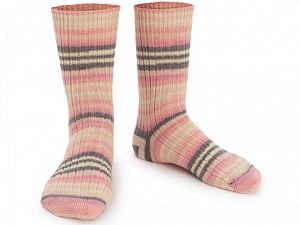 Fiber Content 75% Superwash Wool, 25% Polyamide, Pink Shades, Brand ICE, Grey, Cream, Yarn Thickness 1 SuperFine  Sock, Fingering, Baby, fnt2-55659