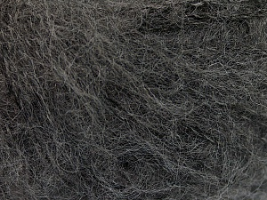 Fiber Content 37% Kid Mohair, 35% Acrylic, 28% Polyamide, Brand ICE, Dark Grey, Yarn Thickness 1 SuperFine  Sock, Fingering, Baby, fnt2-55897