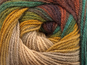 Fiber Content 100% Acrylic, Brand ICE, Green Shades, Gold, Brown Shades, Beige, Yarn Thickness 3 Light  DK, Light, Worsted, fnt2-55954