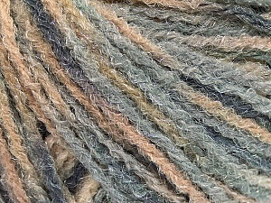 Fiber Content 90% Acrylic, 10% Polyamide, Brand ICE, Grey Shades, Beige, Yarn Thickness 4 Medium  Worsted, Afghan, Aran, fnt2-56036