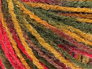 Fiber Content 90% Acrylic, 10% Polyamide, Pink, Maroon, Brand ICE, Green Shades, Yarn Thickness 4 Medium  Worsted, Afghan, Aran, fnt2-56039