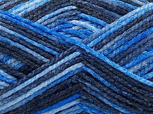 Fiber Content 50% Wool, 40% Polyamide, 10% Acrylic, Brand ICE, Blue Shades, Yarn Thickness 3 Light  DK, Light, Worsted, fnt2-56118