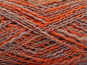 Fiber Content 44% Wool, 44% Acrylic, 12% Polyamide, Orange, Light Grey, Brand ICE, Yarn Thickness 2 Fine  Sport, Baby, fnt2-56196