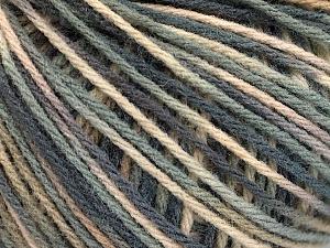 Fiber Content 50% Acrylic, 50% Wool, Brand ICE, Grey Shades, Cream, Yarn Thickness 3 Light  DK, Light, Worsted, fnt2-56203