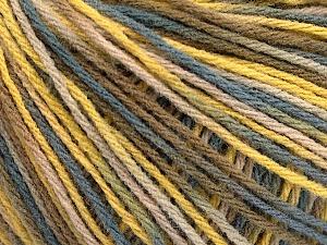 Fiber Content 50% Acrylic, 50% Wool, Yellow, Brand ICE, Grey, Camel, Beige, Yarn Thickness 3 Light  DK, Light, Worsted, fnt2-56204