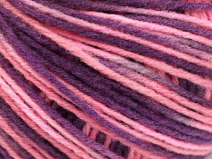 Fiber Content 50% Acrylic, 50% Wool, Pink, Lilac, Brand ICE, Yarn Thickness 3 Light  DK, Light, Worsted, fnt2-56208