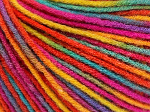 Fiber Content 50% Acrylic, 50% Wool, Rainbow, Brand ICE, Yarn Thickness 3 Light  DK, Light, Worsted, fnt2-56212