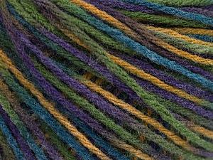 Fiber Content 50% Acrylic, 50% Wool, Purple, Brand ICE, Green, Blue, Beige, Yarn Thickness 3 Light  DK, Light, Worsted, fnt2-56216
