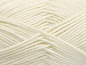 Fiber Content 50% SuperFine Acrylic, 50% SuperFine Nylon, Brand ICE, Ecru, Yarn Thickness 4 Medium  Worsted, Afghan, Aran, fnt2-56282