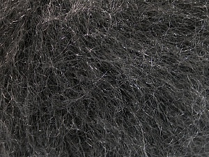 Fiber Content 39% Polyamide, 27% Acrylic, 21% Mohair, 13% Wool, Brand ICE, Dark Grey, Yarn Thickness 3 Light  DK, Light, Worsted, fnt2-56304