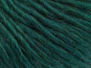 Fiber Content 50% Acrylic, 50% Wool, Brand ICE, Dark Green, Yarn Thickness 5 Bulky  Chunky, Craft, Rug, fnt2-56307