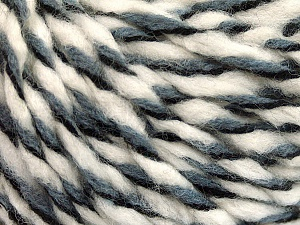 Fiber Content 50% Wool, 50% Acrylic, White, Brand ICE, Grey, Black, fnt2-56315