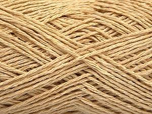 Fiber Content 100% Cotton, Brand ICE, Dark Cream, Yarn Thickness 2 Fine  Sport, Baby, fnt2-56502