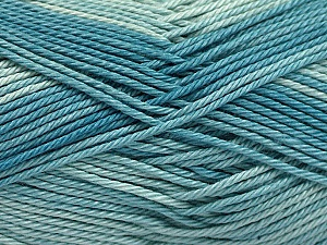Fiber Content 100% Mercerised Cotton, Turquoise, Brand ICE, Yarn Thickness 2 Fine  Sport, Baby, fnt2-56601