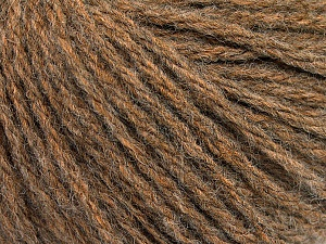 Fiber Content 50% Wool, 50% Acrylic, Brand ICE, Brown Melange, Yarn Thickness 4 Medium  Worsted, Afghan, Aran, fnt2-56735