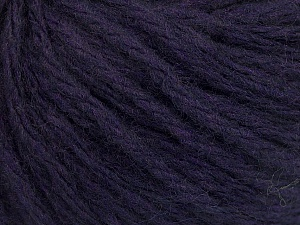 Fiber Content 50% Wool, 50% Acrylic, Brand ICE, Dark Purple, Yarn Thickness 4 Medium  Worsted, Afghan, Aran, fnt2-56749