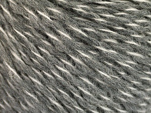 Fiber Content 50% Wool, 50% Acrylic, White, Brand ICE, Grey, fnt2-56830