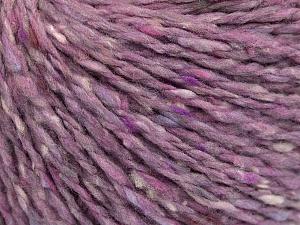 Tweed  Fiber Content 50% Wool, 50% Polyamide, Lilac Shades, Brand ICE, fnt2-56864