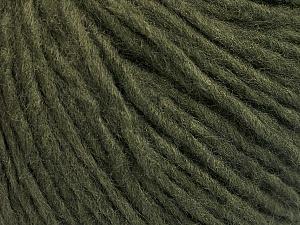 Fiber Content 50% Acrylic, 50% Wool, Brand ICE, Dark Green, Yarn Thickness 4 Medium  Worsted, Afghan, Aran, fnt2-57005