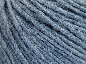 Fiber Content 50% Acrylic, 50% Wool, Light Blue Melange, Brand ICE, Yarn Thickness 4 Medium  Worsted, Afghan, Aran, fnt2-57011