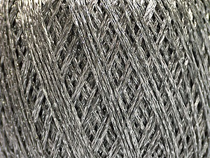 Fiber Content 75% Viscose, 25% Metallic Lurex, Silver, Brand ICE, Yarn Thickness 2 Fine  Sport, Baby, fnt2-57022