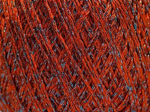 Fiber Content 75% Viscose, 25% Metallic Lurex, Brand ICE, Dark Orange, Blue, Yarn Thickness 2 Fine  Sport, Baby, fnt2-57024