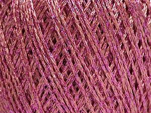 Fiber Content 85% Viscose, 25% Metallic Lurex, Pink, Brand ICE, Yarn Thickness 3 Light  DK, Light, Worsted, fnt2-57046