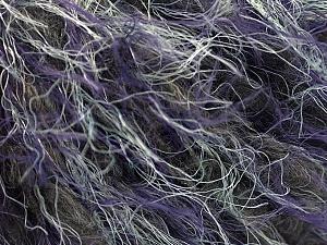Fiber Content 40% Polyamide, 25% Wool, 20% Acrylic, 15% Alpaca, Purple, Brand ICE, Grey, Black, fnt2-57148