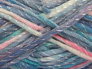 Fiber Content 50% Polyamide, 50% Cotton, White, Turquoise, Pink, Lavender, Brand ICE, fnt2-57192
