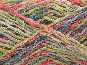 Fiber Content 45% Acrylic, 35% Cotton, 20% Polyamide, Pink, Light Green, Brand ICE, Grey, Cream, Yarn Thickness 3 Light  DK, Light, Worsted, fnt2-57265