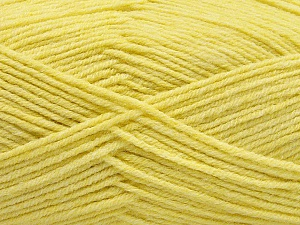 Fiber Content 80% Acrylic, 20% Polyamide, Yellow, Brand ICE, Yarn Thickness 3 Light  DK, Light, Worsted, fnt2-57378