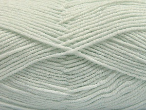 Fiber Content 80% Acrylic, 20% Polyamide, Light Mint Green, Brand ICE, Yarn Thickness 3 Light  DK, Light, Worsted, fnt2-57383