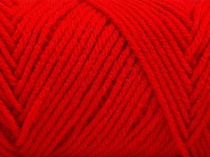 Items made with this yarn are machine washable & dryable. Fiber Content 100% Acrylic, Red, Brand ICE, Yarn Thickness 4 Medium  Worsted, Afghan, Aran, fnt2-57425