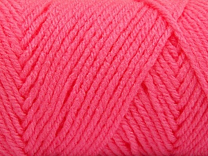 Items made with this yarn are machine washable & dryable. Fiber Content 100% Acrylic, Pink, Brand ICE, Yarn Thickness 4 Medium  Worsted, Afghan, Aran, fnt2-57436