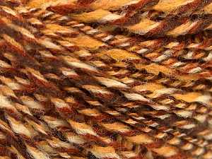 Fiber Content 50% Wool, 50% Acrylic, Brand ICE, Cream, Brown Shades, fnt2-57449