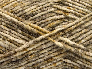 Fiber Content 70% Acrylic, 30% Wool, White, Brand ICE, Camel, Brown Shades, Yarn Thickness 4 Medium  Worsted, Afghan, Aran, fnt2-57642