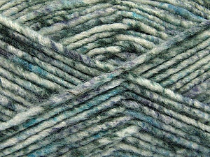 Fiber Content 70% Acrylic, 30% Wool, White, Turquoise, Brand ICE, Grey Shades, Yarn Thickness 4 Medium  Worsted, Afghan, Aran, fnt2-57643