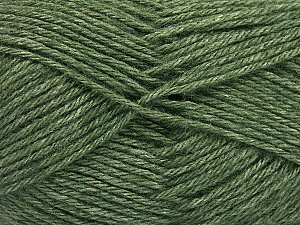Fiber Content 65% Merino Wool, 35% Silk, Brand ICE, Dark Green, Yarn Thickness 3 Light  DK, Light, Worsted, fnt2-57670