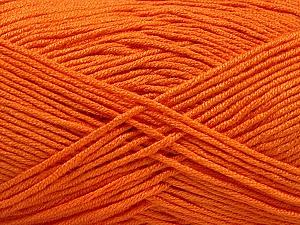 Fiber Content 50% Acrylic, 50% Bamboo, Orange, Brand ICE, Yarn Thickness 2 Fine  Sport, Baby, fnt2-57842